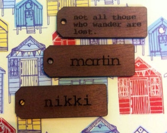 Mini Engraved  Wood Tags