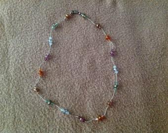 "Vintage 16"" Multicolor Beaded Necklace"