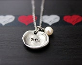 Loved Necklace | XO | Simple and Eloquent Jewelry | Dainty Organic Necklace | Personalized Valentine's Day Gifts | Mother's Day Gifts