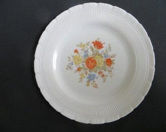 Macbeth Evans Chinex Classic Flowered Dinner Plate