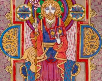 "Celtic Irish Art SAINT FINNIAN 8x11""."