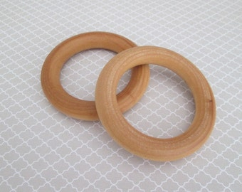 Replacement Teething Ring, Natural Maple Hardwood, 3 Inch Diameter, Bunny Ear Teethers, Organic Teething Ring