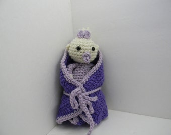 Crochet baby doll with blanket