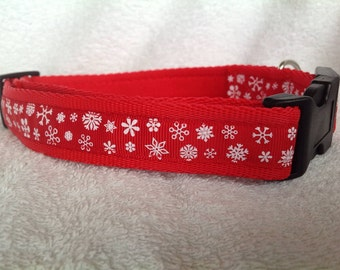 Handmade Snowflakes Christmas Dog Collar - Various Sizes