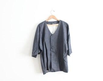 Minimal Slate Kimono Jacket