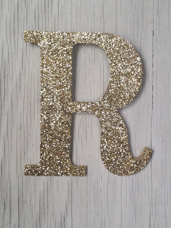 9 decorative gold glitter wall letters wedding by for Gold wall decor letters