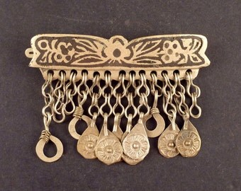 Old tribal Afghan hair clip from the Hazara tribe, Bedouin jewelry, ethnic jewelry, Middle Eastern jewelry, Hazara adornment