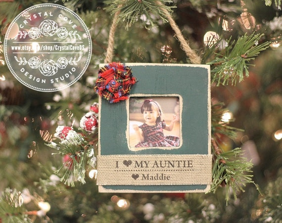 Aunt Ornament Personalized Christmas GIFT Tree Ornament for Aunt Uncle