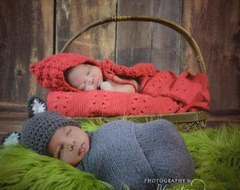 Newborn Little Red Riding Hood and Wolf set