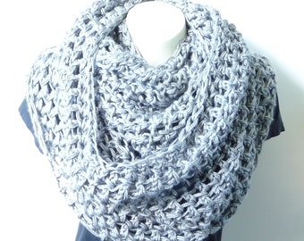 Infinity Scarf CROCHET PATTERN Crochet Scarf Pattern Scarf Crochet Loop Scarf Crochet Cowl Pattern Crochet Chunky Scarf Long Bulky Scarf