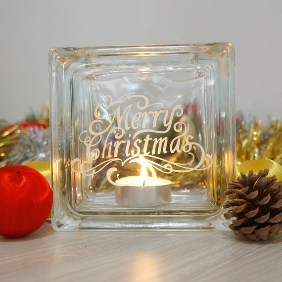 Items Similar To Merry Christmas Tea Light Candle Holder