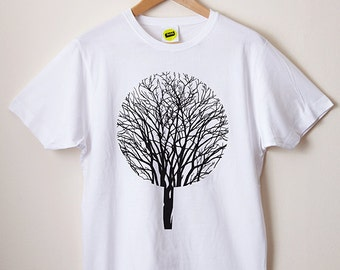 Urban Forest T Shirt / Tree T Shirt, Forest T Shirt, Graphic T Shirt, Screenprint T Shirt, Mens Screenprinted Tee, Cool Tee, Nature T Shirt