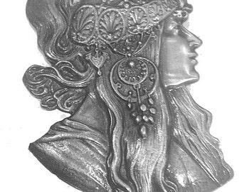Alphonse Mucha Wall Art - Metal - Art Nouveau