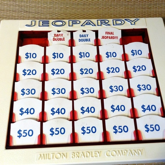 Vintage Jeopardy Game Milton Bradley 4457 Complete, c.1964