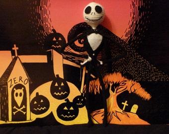 Jack Skellington Inspired Doll