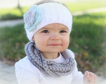 Crochet Baby Scarf, Toddler Scarf, Chain Loop Scarf, Chain Scarf, Soft, Bulky Yarn, Color Choice, Crocheted, Women's, Circle Scarf