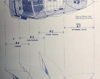 Sydney Opera House West Elevation Blueprint