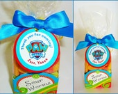 30 ct Paw Patrol personalized gift tags great for birthday party favors, games prizes and more