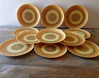 Vintage Melmac Set of 12 Saucers Very Bohemian