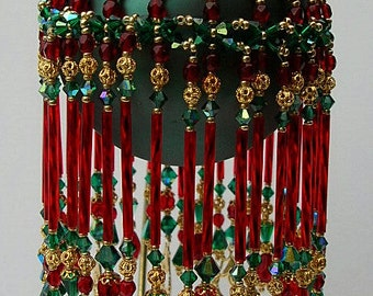 Pattern for Beaded Christmas Ornament - Merry Christmas