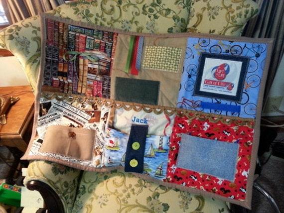 Man S Fidget Lap Quilts For Alzheimer Autism By