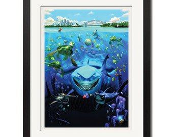 Finding Nemo Under The Sea Poster Print