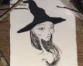 Witch portrait fine art print wiccan halloween
