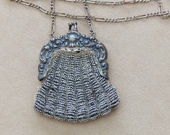 Antique Chainmaille Coin Purse In Sterling SIlver