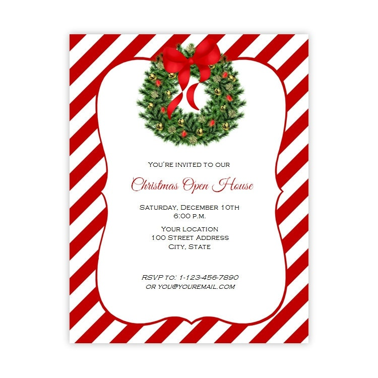 Christmas Invitation Flyer Holiday Party Flyer  X
