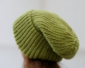 Extra Large Chunky knit Beanie Hat in Forest Green/ Beanie Hat/ Winter Hat/ Warm Hat