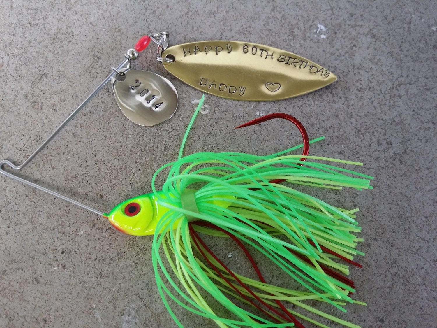Personalized mens fishing lure gift hooked on you by for Personalized fishing lure