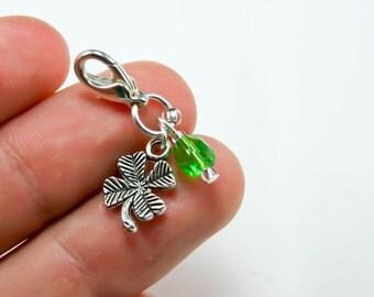 Four Leaf Clover Charm. Lucky Charm. St Patricks Day Lucky Charm Gift. Good Luck Charm. SCC099