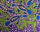 Australian Aboriginal Print Fabric--Platypus in Purple--Australian Aboriginal Fabric--Australian Fabric by the HALF YARD