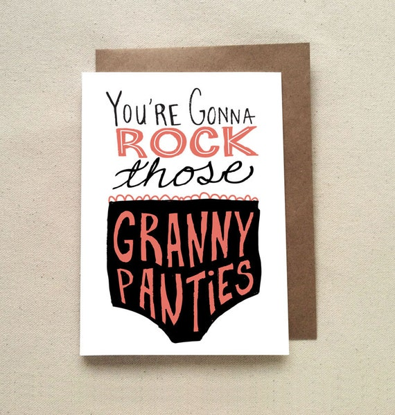You're Gonna Rock Those Granny Panties On Etsy