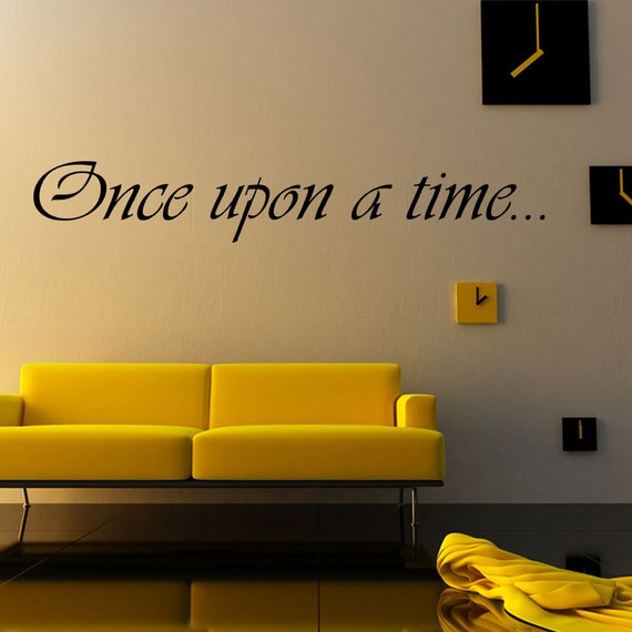 once upon a time vinyl wall decal quotes home sticker decor