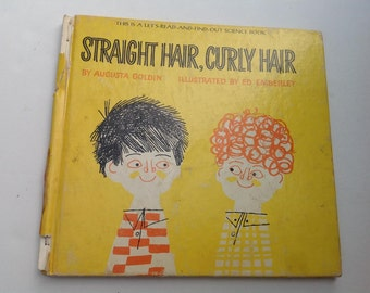 Vintage Child Book Straight Hair Curly Hair, 1966
