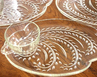 1950's Federal Glass Homestead/Wheat 8-pc Luncheon Set