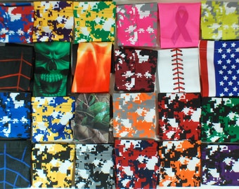 NEW! Digital Camo USA Super Hero Moisture Wicking Compression Sports Arm Sleeves - Several Colors & Sizes Available!