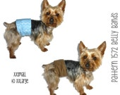Dog Belly Band Pattern 1572 * XXSmall to XXLarge * Dog Clothes Sewing Pattern * Dog Diaper Pattern * Boy Dog Clothes * Little Dog Clothes