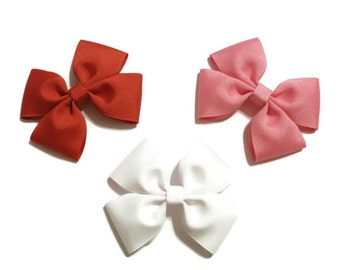 Set of 3 Flat Boutique Bows (3 1/2 inches) **You Pick the Colors**