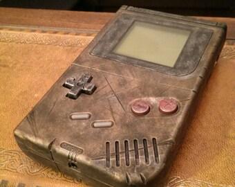 Custom Nintendo Gameboy origonal, Retro Gaming Steampunk Ed. antique metal .. fan art