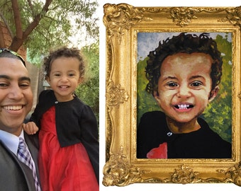 Customized Portrait Painting in Oil- Commissioned Portrait- Contemporary Modern Art