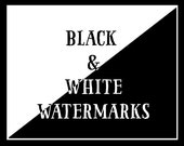 Black and White Watermark Files of logo design (.PNG format)  - ADD ON