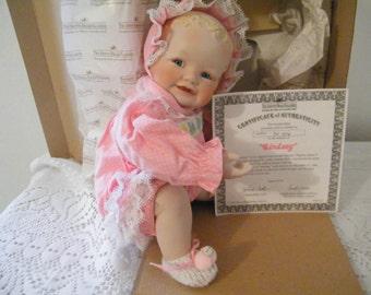 Yolanda Bello Baby Doll Porcelain Artist designed Lindsey from the Playtime Babies series by Ashton Drake Dolls