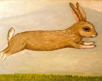 Run Rabbit, art card with envelope