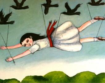 Blackbirds  illustrated digital print