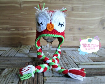Crochet Owl Hat, Personalized Hat, Sizes range from Newborn to Adult, Boy Girl Toddler Kids, Sleepy Owl Hat, Photo prop, Baby Shower Gift