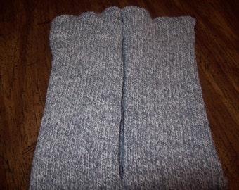 Grey Tweed Knitted Legwarmers, Dance Wear, Excercise Leg Warmers, Arm Warmers, Boot or High Heels Legwarmers