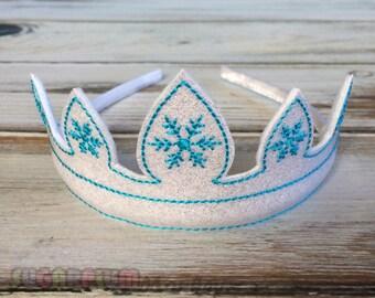 Frozen Inspired Headband, Snow Tiara, Snow Crown, Accessory, Hair Accessory