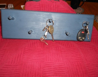 Key Ring Holder Blue Made to order